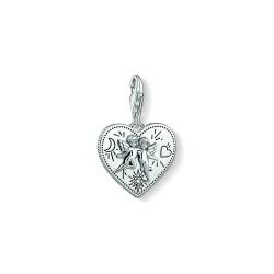 Thomas Sabo 1722-643-14 Charm-Anhänger Herz Engelspaar Silber