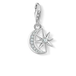 Thomas Sabo 1794-051-14 Charm-Anhänger Stern & Mond Silber