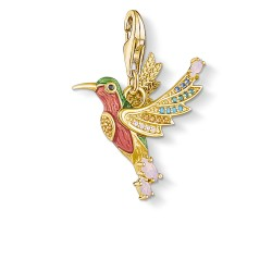 Thomas Sabo 1828-974-7 Charm-Anhänger Bunter Kolibri Silber Vergoldet