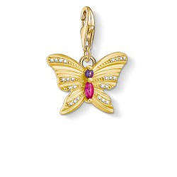 Thomas Sabo 1830-995-7 Charm-Anhänger Schmetterling Gold Vergoldet