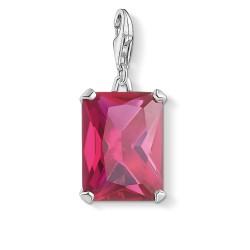 Thomas Sabo 1834-011-10 Charm-Anhänger Großer Stein Pink Silber