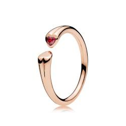 Pandora Rose 186570CZR Ring Zwei Herzen
