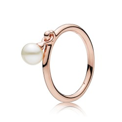 Pandora Rose 187525P Ring Damen Contemporary Pearl Weiss Gr. 50
