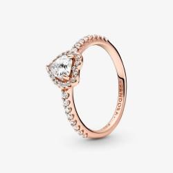 Pandora Rose 188421C02 Ring Damen Funkelndes Erhabenes Herz
