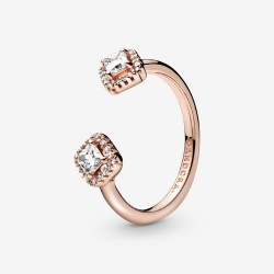 Pandora Rose 188506C01 Ring Damen Funkelndes Quadrat