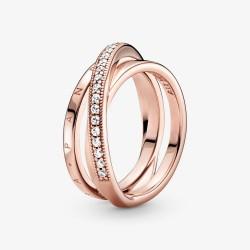 Pandora Rose 189057C01 Pavé-Ring Damen Dreifach Gekreuzt