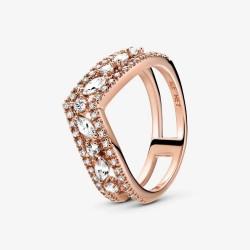 Pandora Rose 189095C01 Ring Wishbone Funkelnder Marquise-Schliff