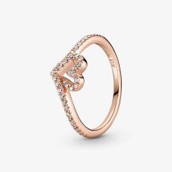 Pandora Rose 189302C01 Ring Damen Funkelnder Wishbone Herz