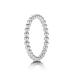 Pandora 190615 Ring Metall-Perlen Silber