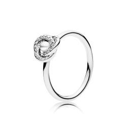 Pandora 191040WCP Ring Glänzender Liebesknoten Silber Gr. 56