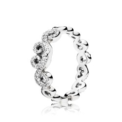 Pandora 197117CZ-52 Ring Heart Swirls Sterling-Silber Gr. 52