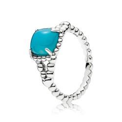 Pandora 197188NSC Ring Blue Vibrant Spirit Silber Gr. 58