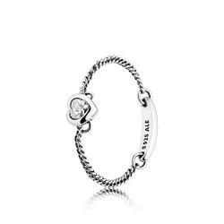 Pandora 197191CZ Ring Spirited Heart Silber Weiss