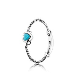 Pandora 197191NYA Ring Blue Spirited Heart Silber