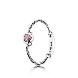 Pandora 197191PCZ Ring Pink Spirited Heart Silber