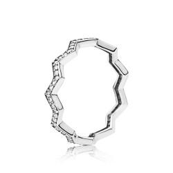 Pandora 197751CZ Ring Damen Shimmering Zigzag Sterling-Silber