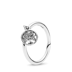 Pandora 197782CZ Ring Stackable Pandora Tree of Life Silber