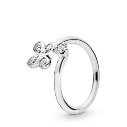 Pandora 197988CZ Ring Damen Four-Petal Flower Sterling-Silber Gr. 52