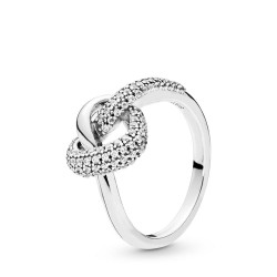 Pandora 198086CZ Ring Knotted Heart Sterling-Silber