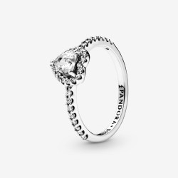 Pandora 198421C01 Ring Damen Erhabenes Herz Silber