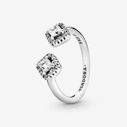 Pandora 198506C01 Ring Damen Funkelndes Quadrat Silber