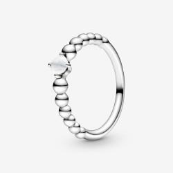 Pandora 198867C04 Ring Damen Milchig Weiße Metallperlen Silber Gr. 54