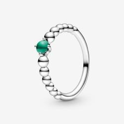 Pandora 198867C05 Ring Damen Dschungelgrüne Metallperlen Silber