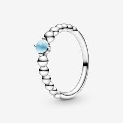 Pandora 198867C07 Ring Damen Himmelblaue Metallperlen Silber