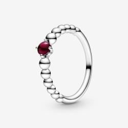 Pandora 198867C08 Ring Damen Dunkelrote Metallperlen Silber