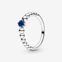 Pandora 198867C12 Ring Damen Meeresblaue Metallperlen Silber