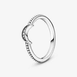 Pandora 199156C01 Ring Mondsichel Metallperlen Silber