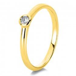 Diamond Group 1C531G4 Ring Damen Brillant 0,20 ct 14 kt GG Gr. 54