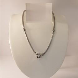 Lovelinks 2230241-45K Kette Beads Charms Blumen-Verschluss Silber Oxidiert 45 cm
