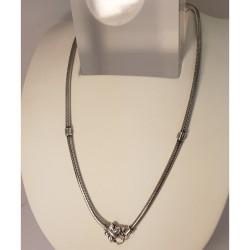 Lovelinks 2230242-42K Kette Beads Charms Schmetterlings-Verschluss Silber Oxidiert 42 cm