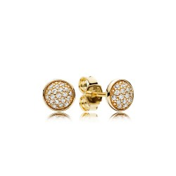 Pandora Gold 256212CZ Ohrstecker Glänzende Tröpfchen 14-K-Gold