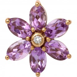 Endless 25950 Charm Big Amethyst Flower