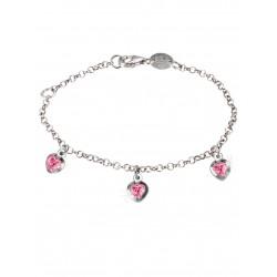 Scout 260210100 Kinder-Armband Herz Mädchen Rosa Pink Sterling-Silber