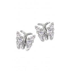 Scout 262000004 Ohrstecker Ohrringe Schmetterling Zirkonia Silber