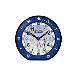 Scout 280001004 Jungen-Wecker Minute Fussball Blau