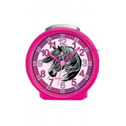 Scout 280001019 Mädchen-Wecker Pferd Pink Analog Quarz