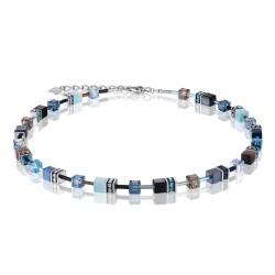 Coeur De Lion 2838/10-0737 Kette Collier GeoCUBE® Swarovski® Blau-Aqua
