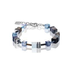 Coeur De Lion 2838/30-0737 Armband GeoCUBE® Swarovski® Blau-Aqua