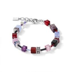 Coeur de Lion  2838/30-0841 Armband Damen GeoCUBE® Swarovski® Lila Rot Blau Edelstahl