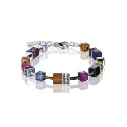 Coeur De Lion 2838/30-1567 Armband GeoCUBE® Swarovski® Multicolor