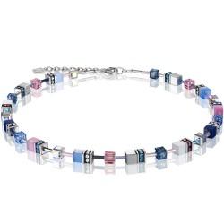 Coeur de Lion 2839/10-0719 Halskette GeoCUBE® Swarovski® Kristalle Blau-Rosa