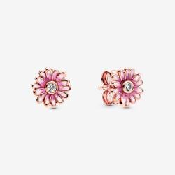 Pandora Rose 288773C01 Ohrstecker Damen Rosafarbene Gänseblümchen