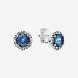 Pandora 296272C01 Ohrringe Ohrstecker Blau Funkelnd Sterling-Silber