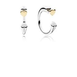 Pandora 296576 Kreolen Ohrringe Zwei Herzen