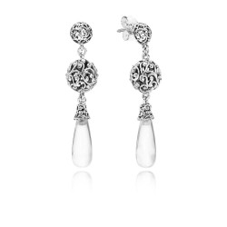 Pandora 297686CZ Ohrringe Earring Drops Regal Droplets Sterling-Silber