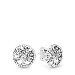 Pandora 297843CZ Ohrstecker Trees of Life Ohrringe Silber